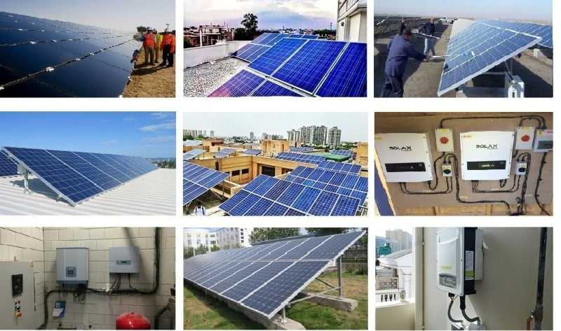Our Solar Panel Installations in Gurgaon India.